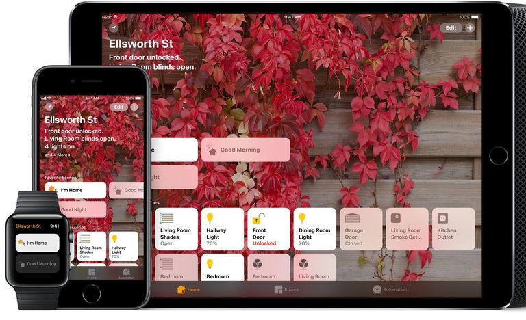 Apple HomeKit on iOS, Apple Watch, and HomePod