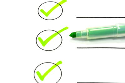 Checkbox marked off a to-do list.