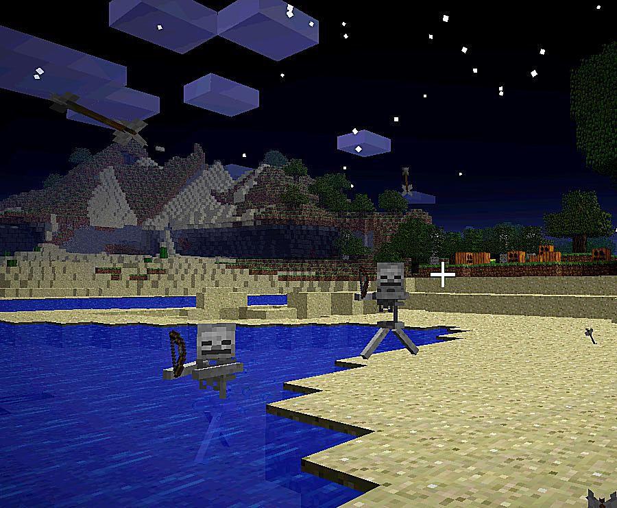 Skeleton in Minecraft game