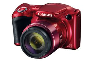 A 42X optical zoom lens highlights the design of the Canon PowerShot SX420.