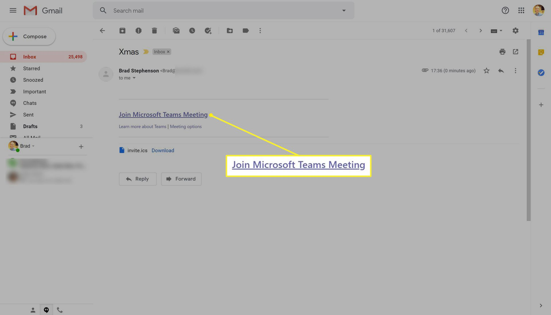 Link to join a Microsoft Teams meeting