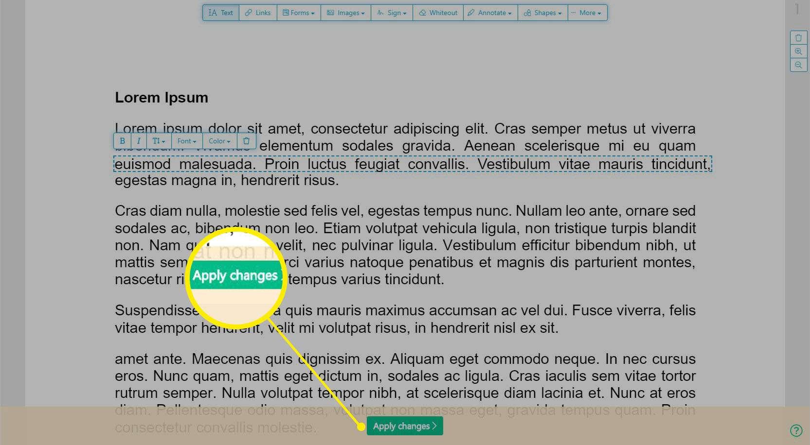 Sejda online PDF editor -