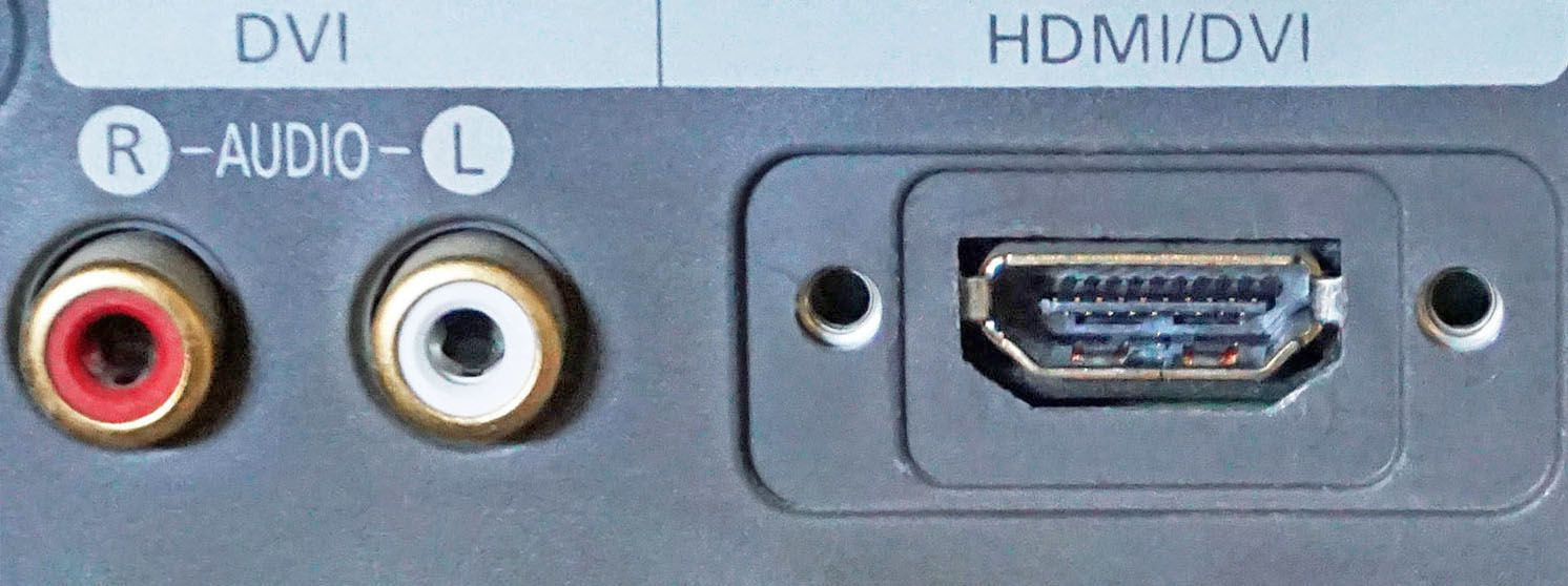 HDMI/DVI Input Connections on an HDTV
