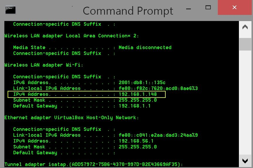 Finding a Computer Network Address