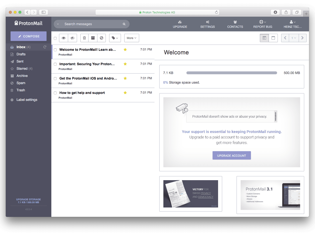 ProtonMail Review: Free Secure Email Service