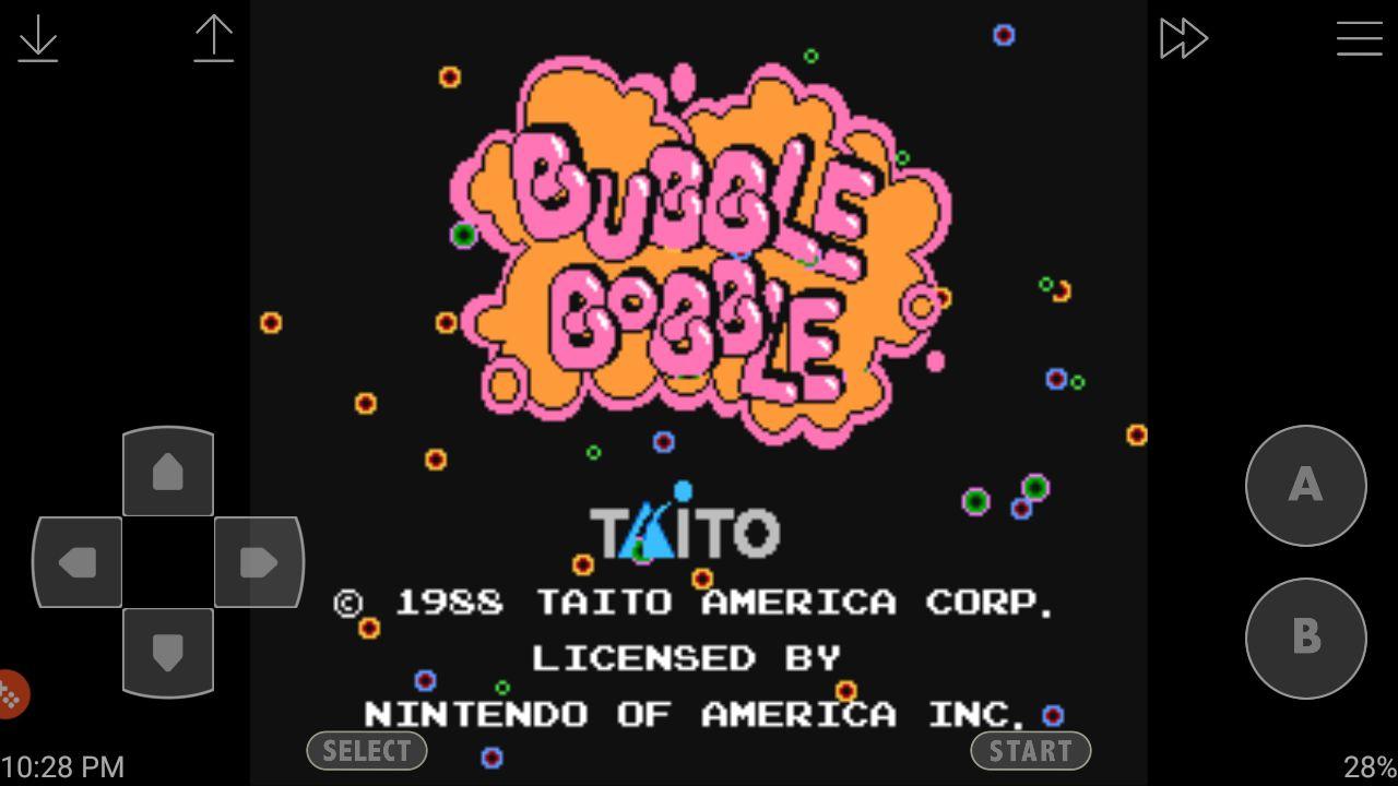 Bubble Bobble on the John NESS emulator for Android
