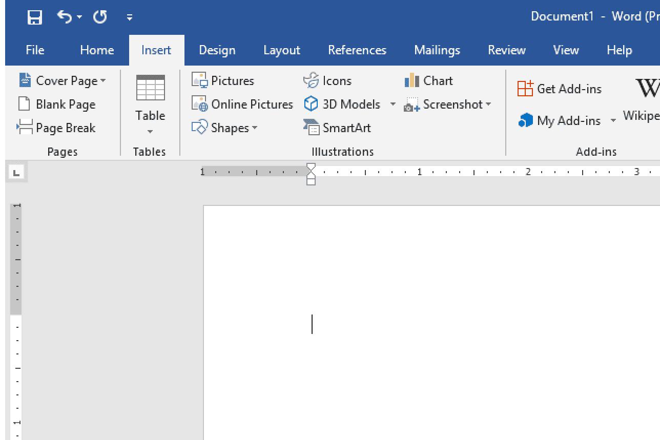 Microsoft Word Insert Pictures menu