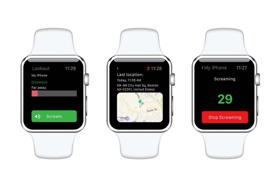 Lookout app for Apple Watch
