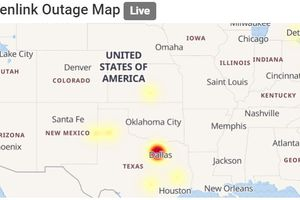 Suddenlink outage map.