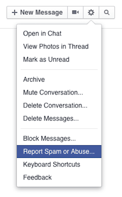 How to mark as spam in facebook messages ccuart Choice Image