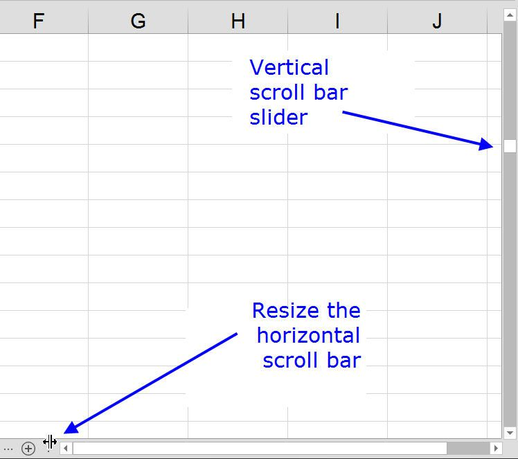 How to hide scroll bars and reset slider range in excel hide resize and repair scroll bar and slider in excel ccuart Image collections