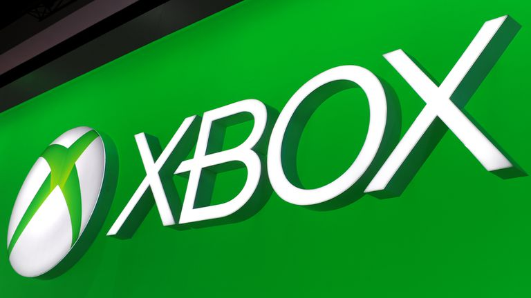 Green Xbox logo sign.
