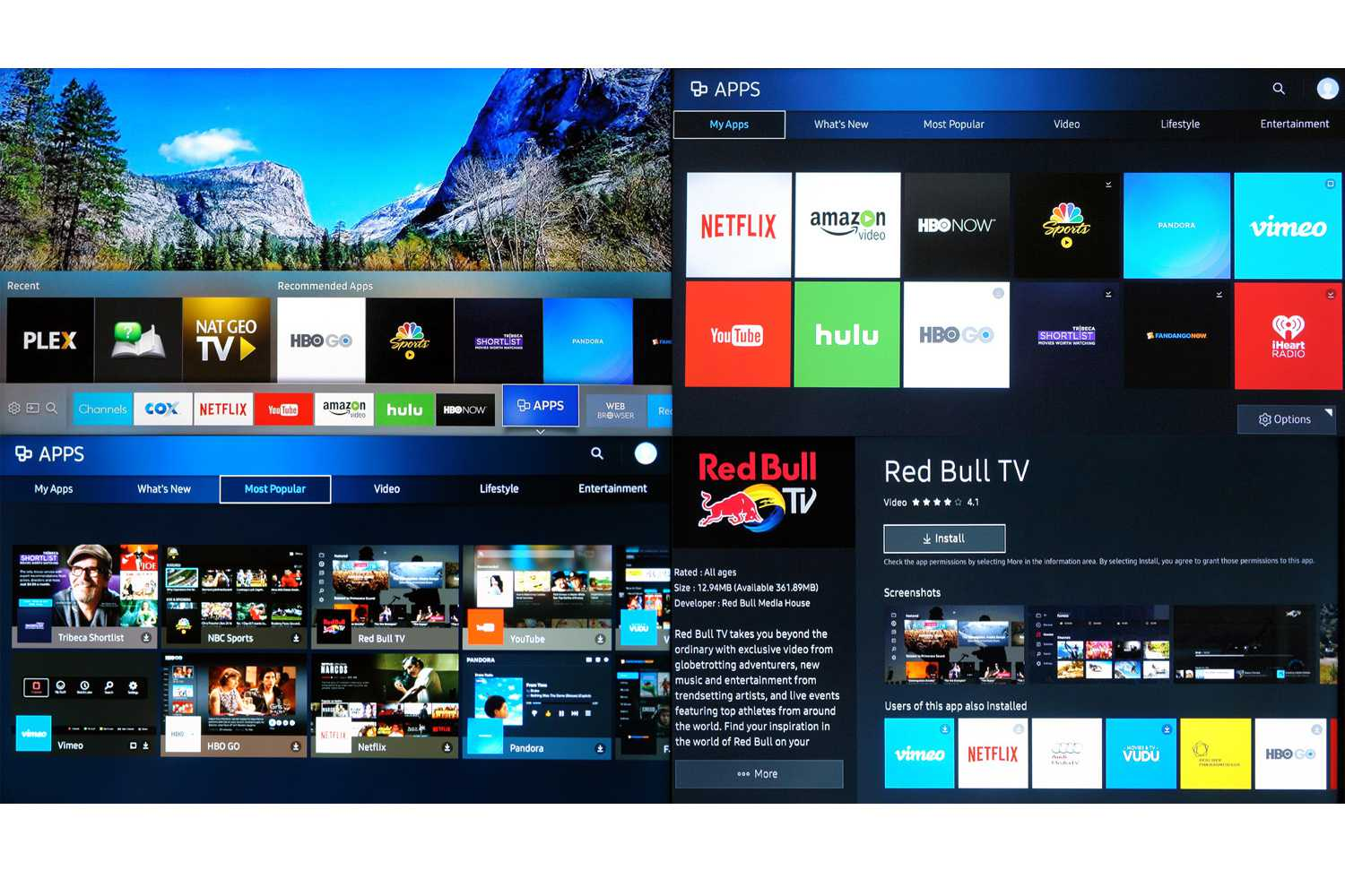 e28cbb913 Samsung UN40KU6300 4K UHD TV - Smart Hub and Apps Menus