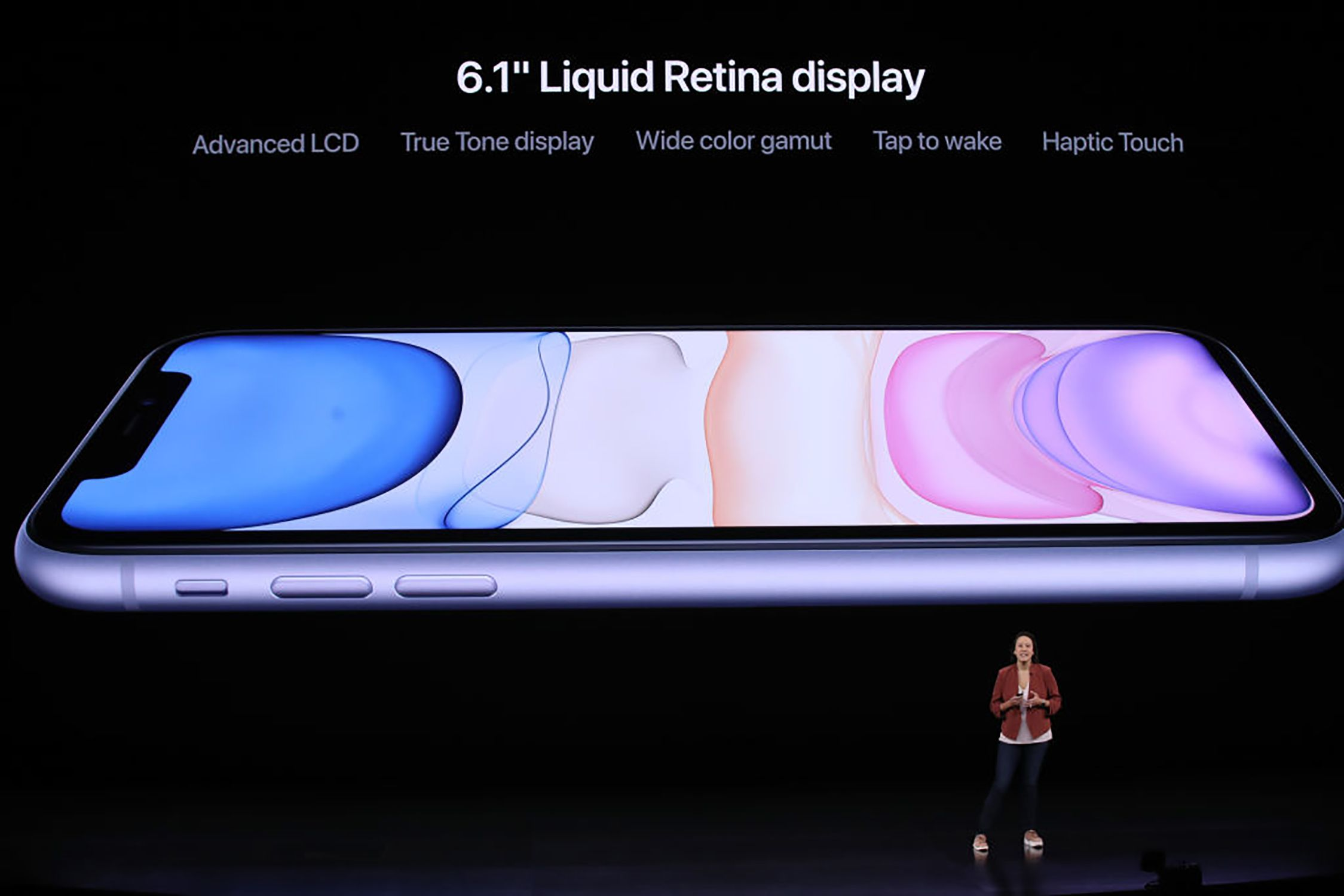 iPhone 11 screen specs presented at introductory event