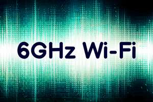 6GHz Wi-Fi text on green and white background