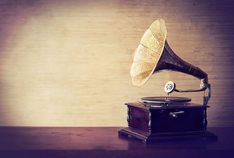 Sepia Tone Phonograph
