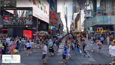 Google Maps Street View of Times Square NY