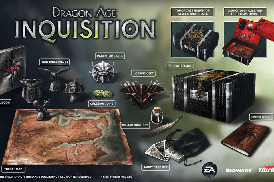 Dragon Age Inquisition - Inquisitor's Edition - Box and Contents