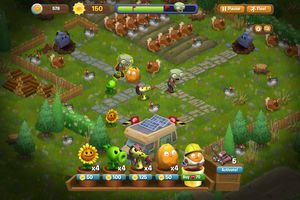 Plants Vs Zombies Screen