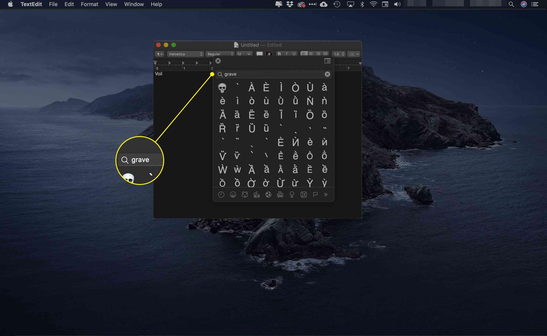 The search bar in Emojis & Symbols