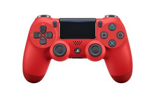 A red DualShock 4 controller for PS4