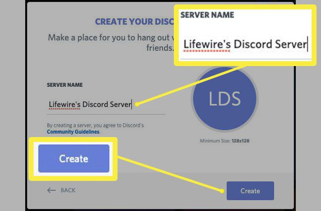 How to name a server in Discord.