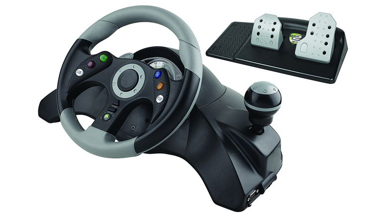 The Mad Catz MC2 360 driving wheel
