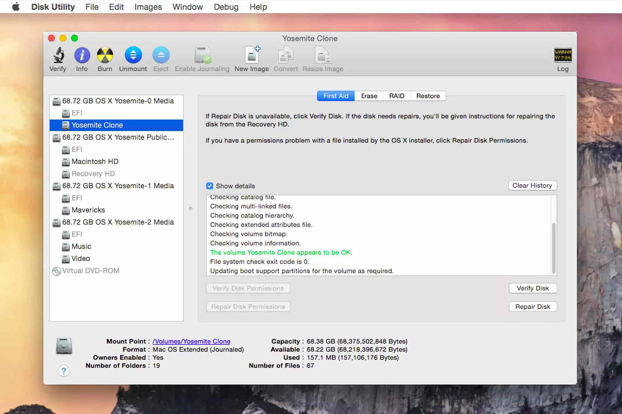Disk Utility to Repair Disk Permissions