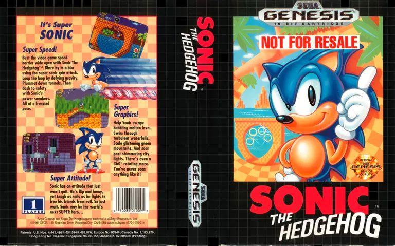 Sonic the Hedgehog Genesis game art