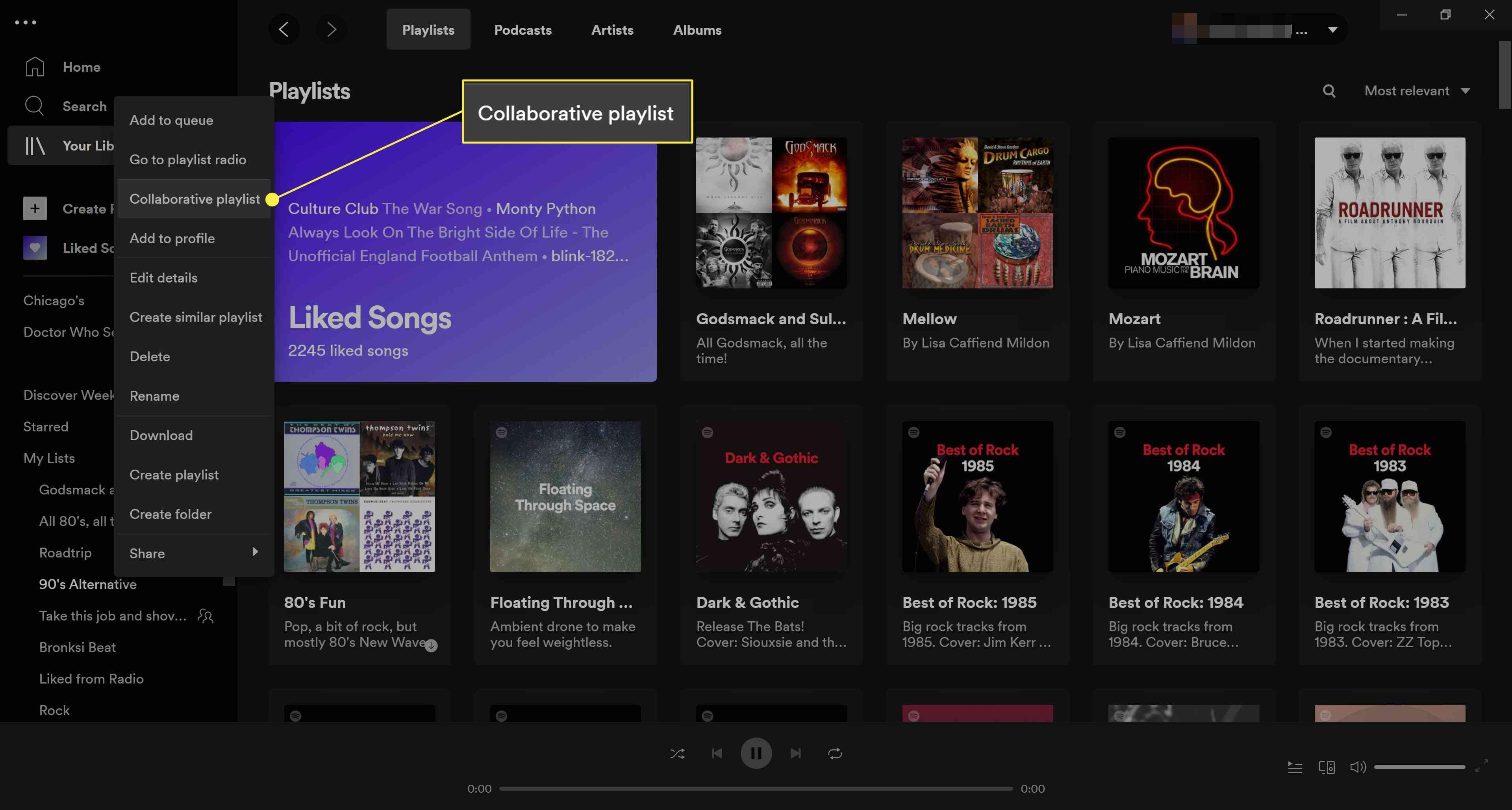 Spotify Collaborative Playlists.