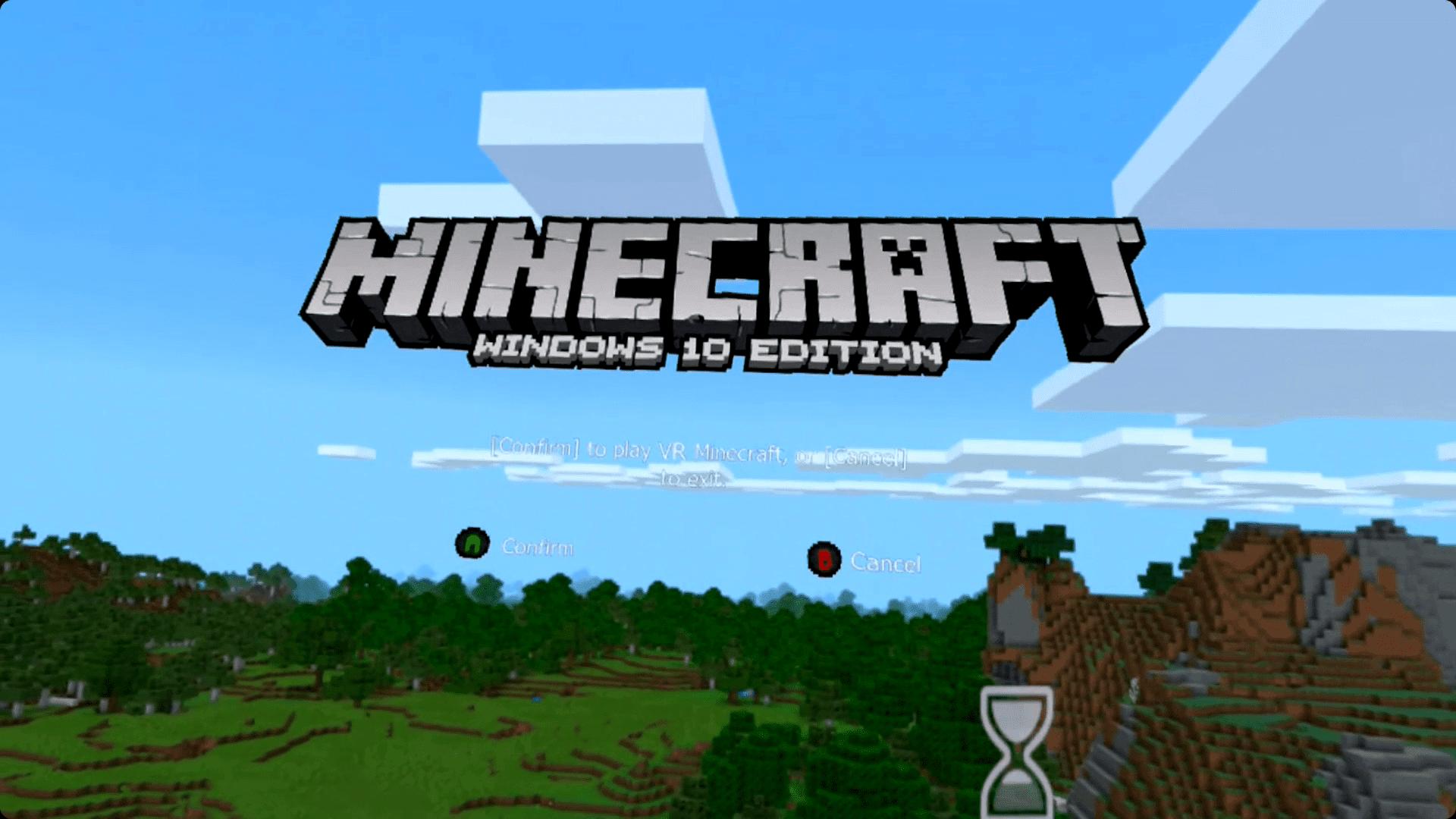 Minecraft on an Oculus Quest.