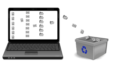 Removing files from desktop illustration