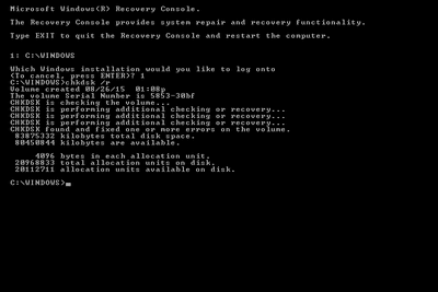 How to Repair the Master Boot Record In Windows XP