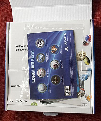 Inside the PS Vita box