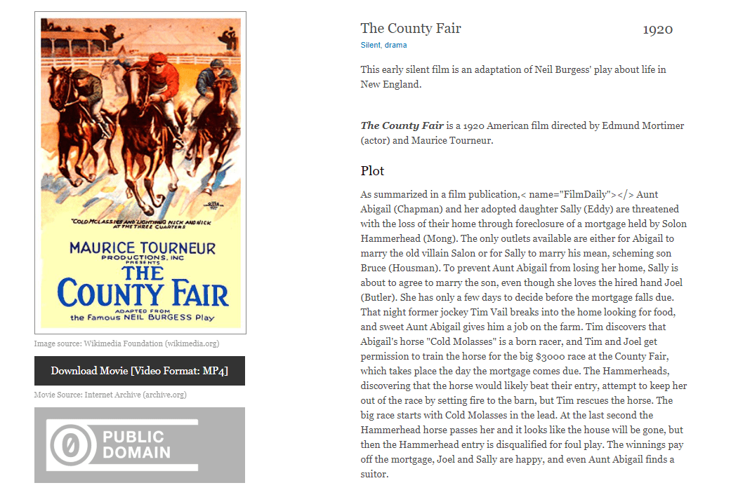 The County Fair free movie download