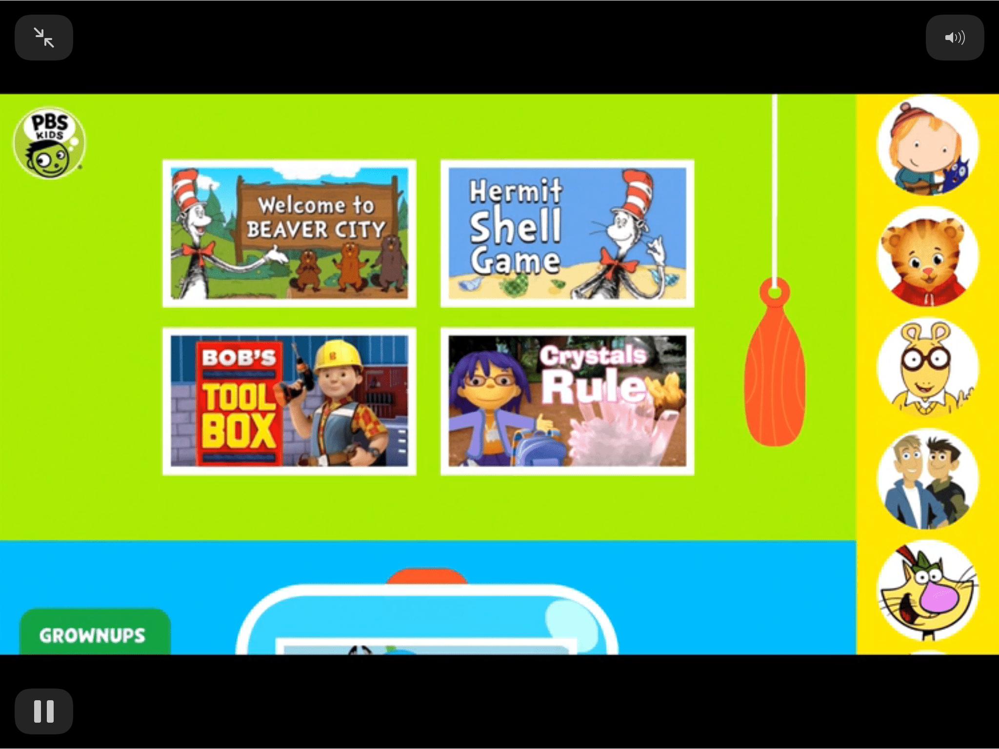 PBS Ipad screenshot