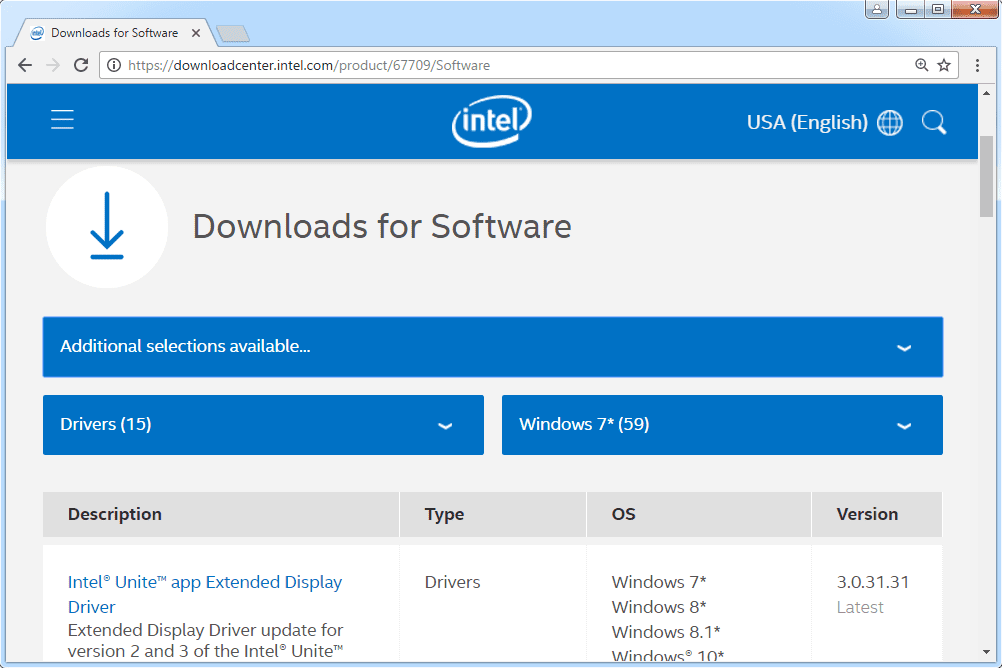 intel pro 100 network adapter driver download