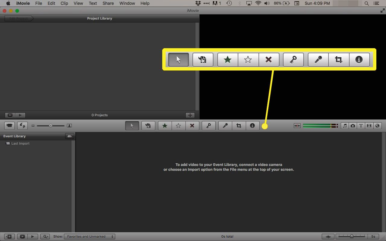 Advanced tools in iMovie '11