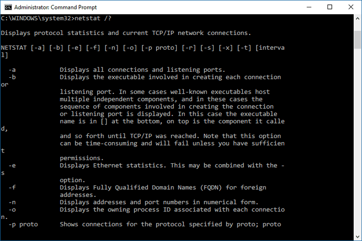 netstat command not found windows