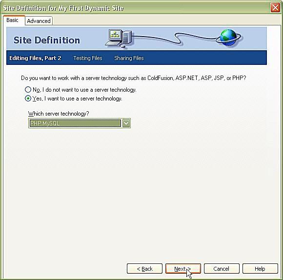 Set Up a PHP/MySQL Site in Dreamweaver
