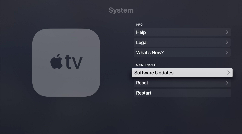 Software Updates in tvOS