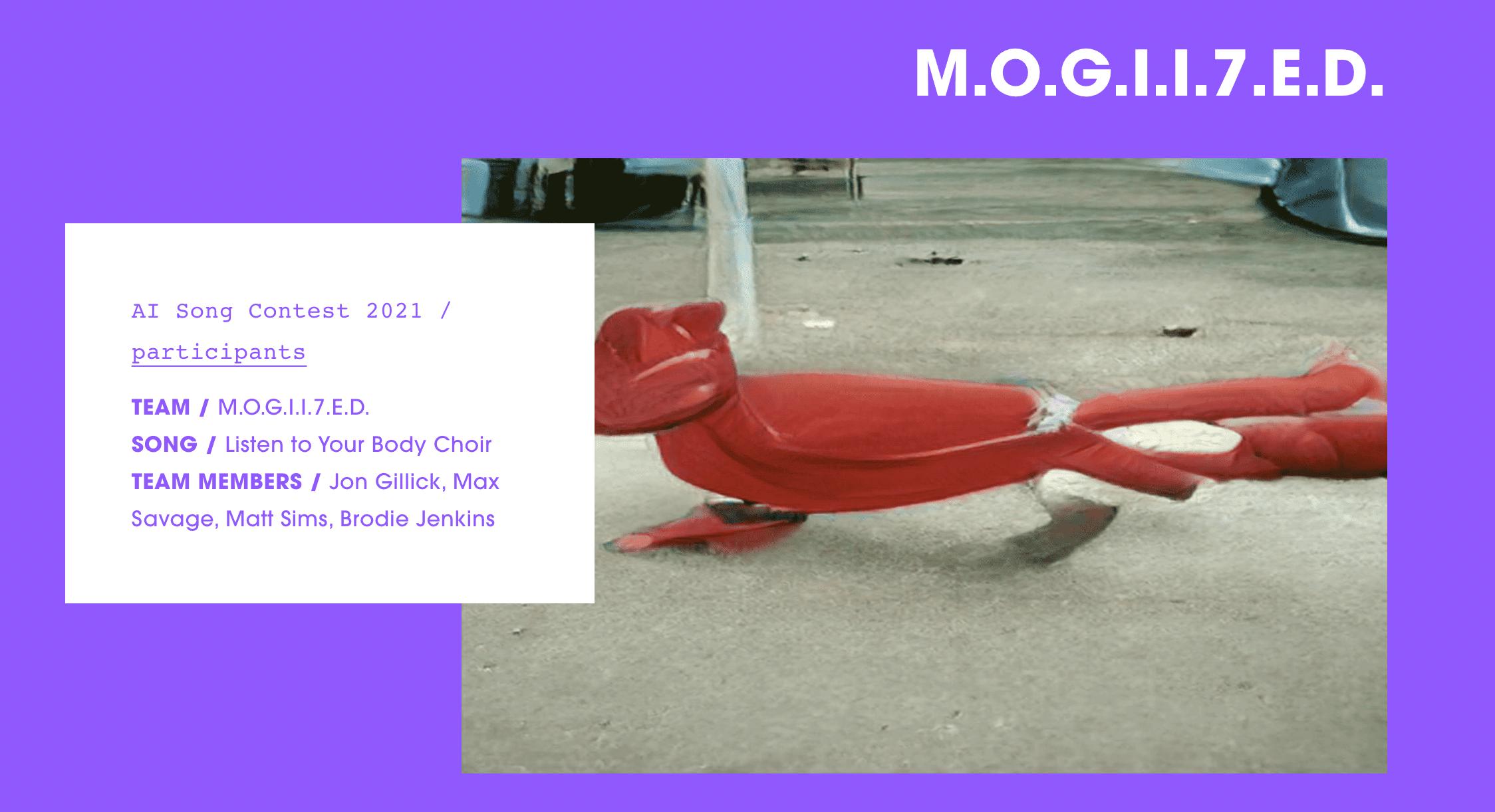 M.O.G.I.I.7.E.D., the winners of the 2021 AI song contest