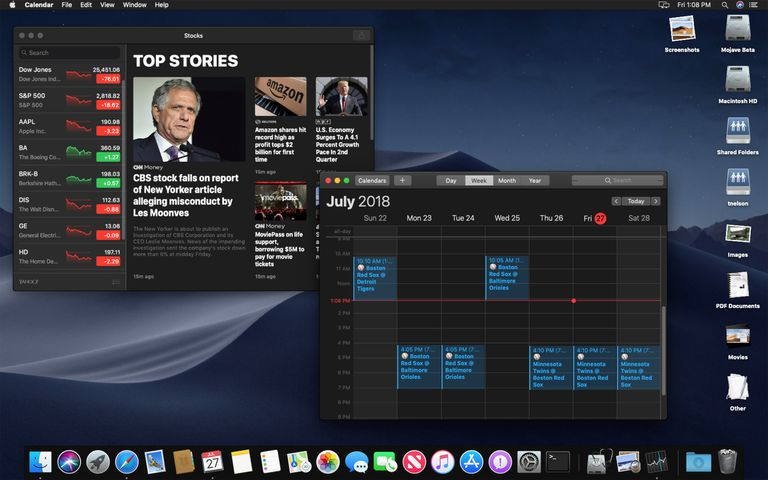Dark mode macOS Mojave