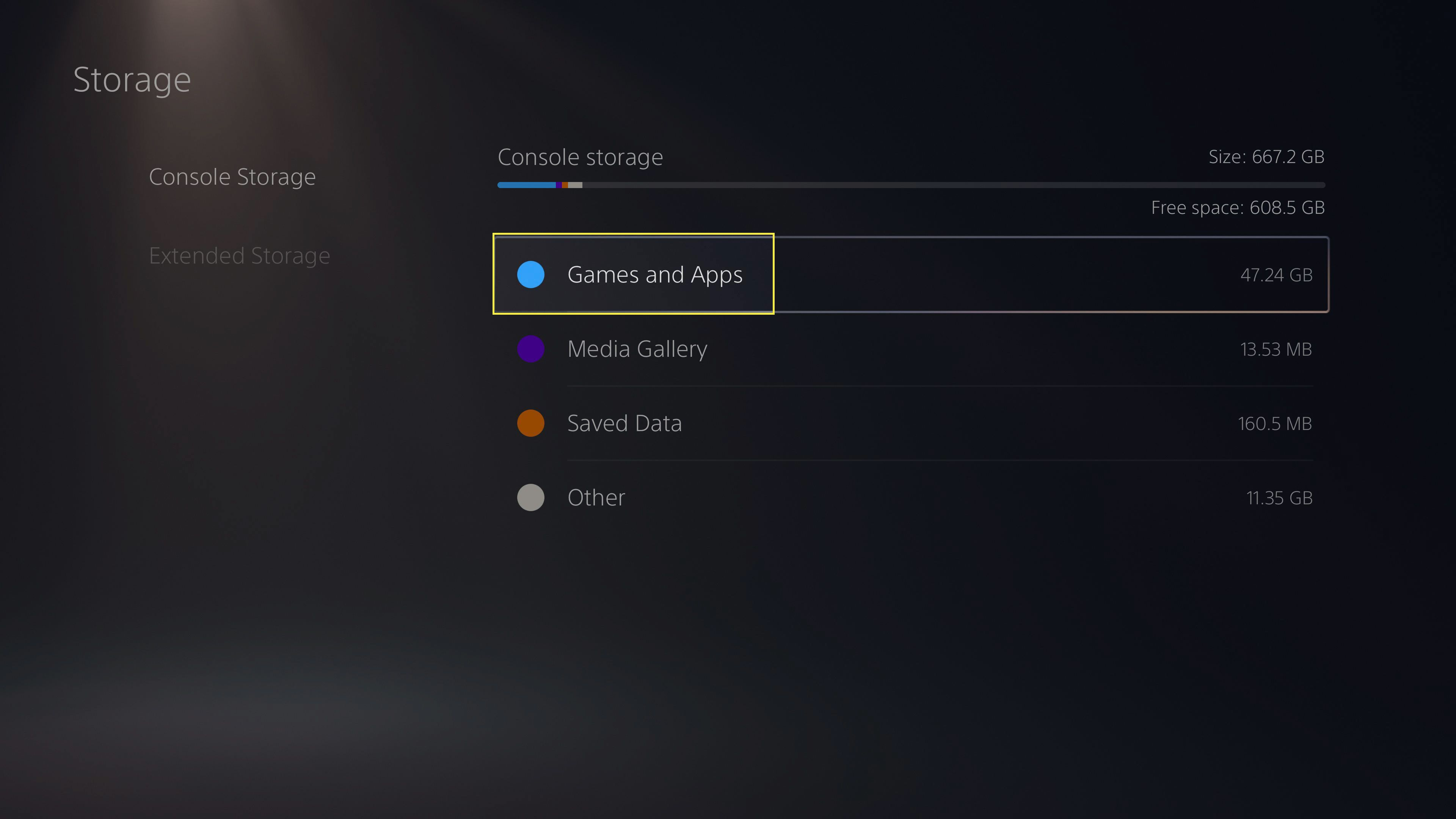 Games and Apps in Storage