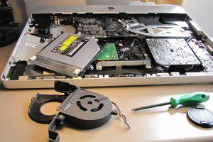 iMac open for repair