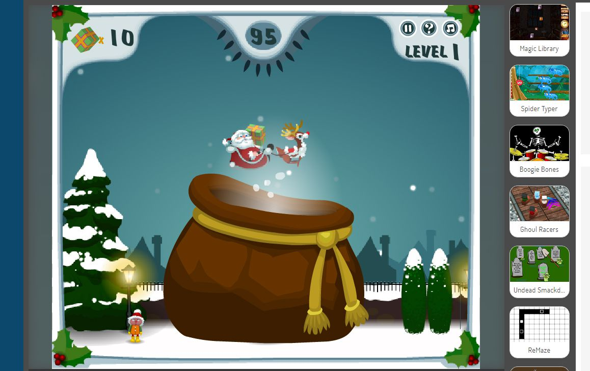A screenshot of the game Happy Santa