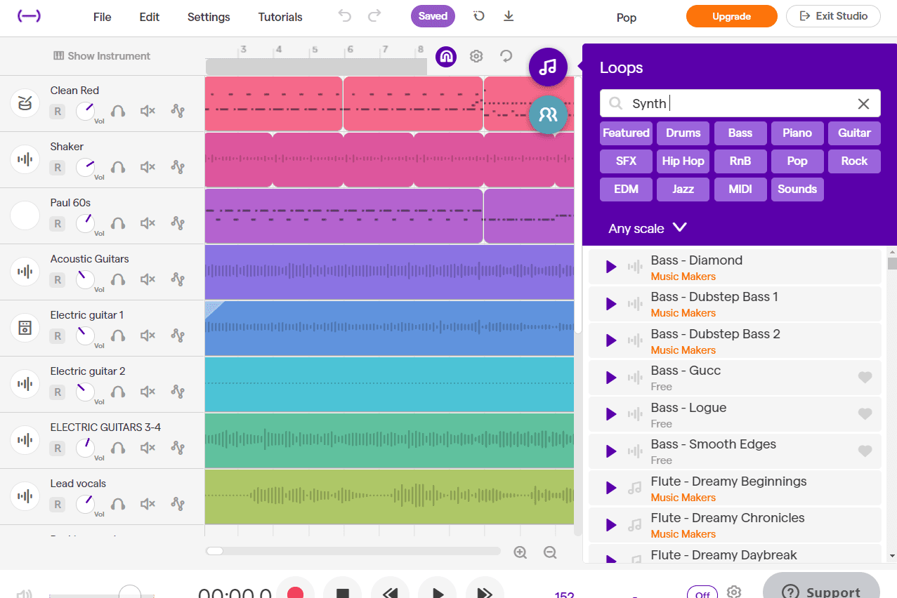 Soundtrap online remixer