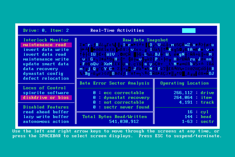 Screenshot of SpinRite 6.0