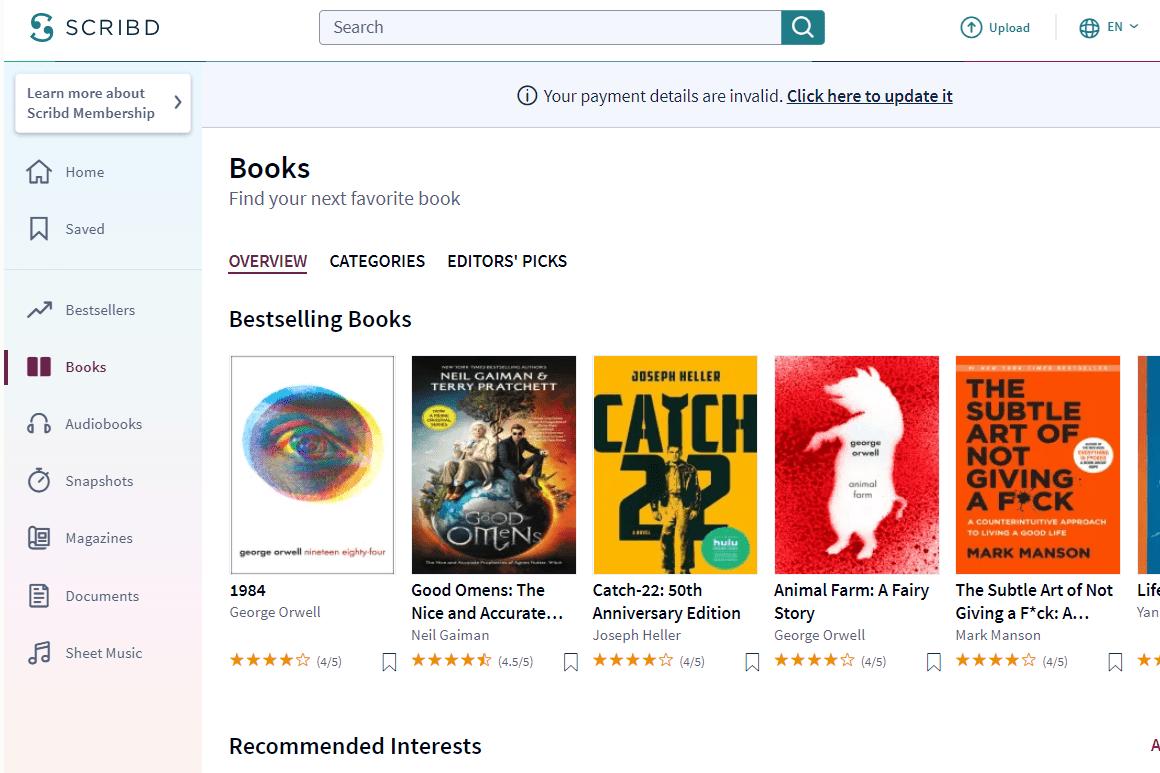 Scribd bestselling books
