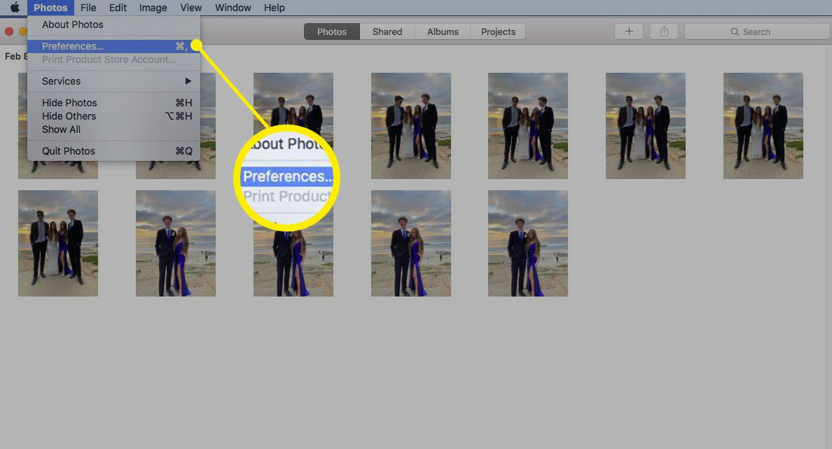 Screenshot of setting another Photos library as System Photos library
